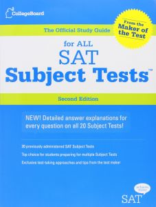 Official Study Guide for All SAT Subject Tests by College Board - Mixed Media