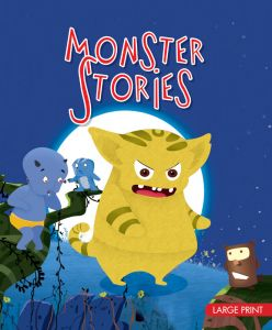 Large Print Monster Stories by Om Books - Hardcover