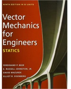 Vector Mechanics for Engineers Statics by Ferdinand P. Beer - Paperback