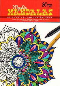 COLORING BOOK FOR ADULTS. MYSTIC MADALAS