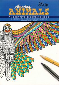 COLORING BOOK FOR ADULTS. AMAZING ANIMALS