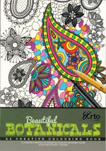 COLORING BOOK FOR ADULTS. BEAUTIFUL BOTANICALS