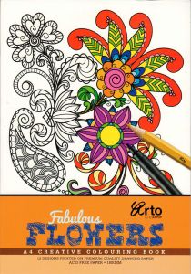 COLORING BOOK FOR ADULTS. FABULOUS FLOWERS