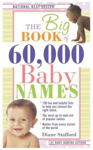 The Big Book Of 60,000 Baby Names By Diane Stafford - Paperback