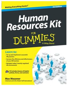 Human Resource Kit for Dummies by Max Messmer - Paperback