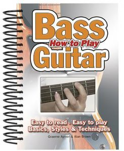 How To Play Bass Guitar by Alan Brown and Graeme Aymer - Spiral Bound