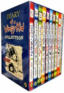 Diary of a Wimpy Kid Collection 10 Book Set by Jeff Kinney - Paperback